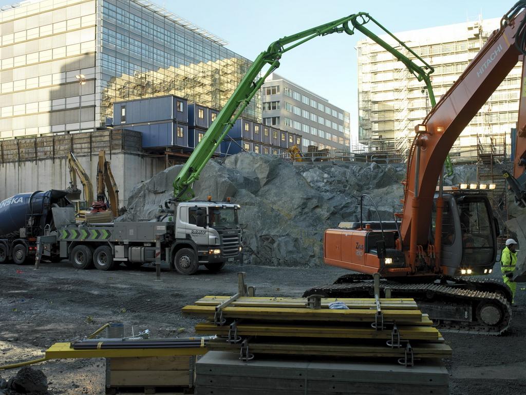 Миксер с насосом бетон 1